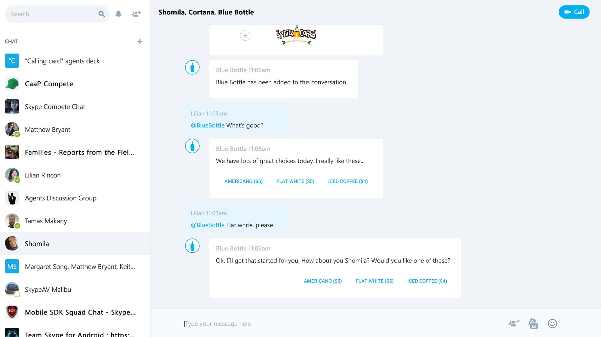 SkypeBlueBottle